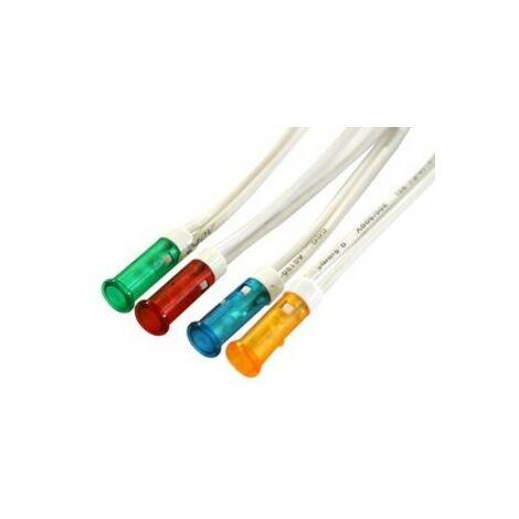Piloto LED 230V Con Cable De 200mm Color AMBAR