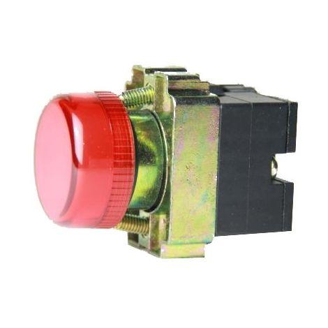Piloto luminoso metálico color rojo 22mm