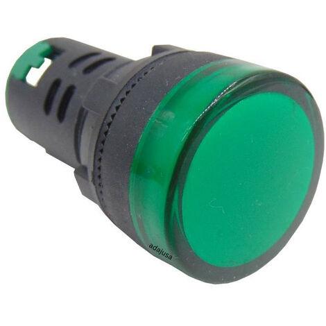 Piloto multiled color verde 230 Vac 22mm
