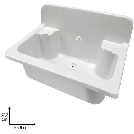 Pilozzo Maxi in Resina Bianco con Alzatina L. 55.6 cm da Esterno