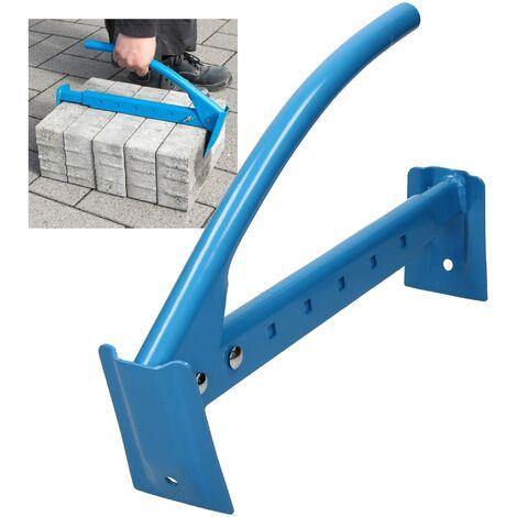 Pince à briques pierres pose-dalles réglable jusqu'à 70cm en acier pour chantier