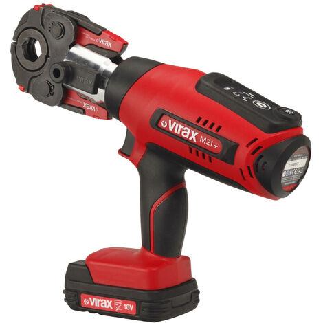 Pince à sertir électro-mécanique Viper® M21+, une pince mère et cinq inserts V Ø12, Ø15, Ø18, Ø22, Ø28 (Cuivre) - Virax