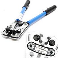 Pince à sertir Outil de sertissage 6-50 mm² Cosse de câble avec Poignées antidérapantes Sertisseuse
