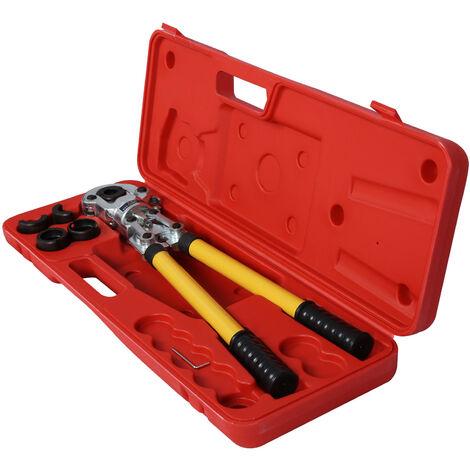 Pince à sertir professionnelle avec Contour Tubes Raccords Alu PE-X 16-32 mm Mâchoires Sertissage