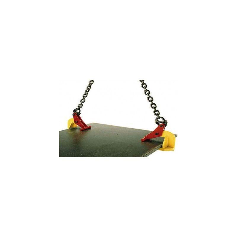 Pince à tôle horizontale sans marquage - Capacité : 0.5 tonne - Ouverture : 0 à 120 mm