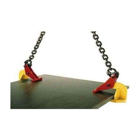 Pince à tôle horizontale sans marquage - Capacité : 5 tonnes - Ouverture : 0 à 150 mm