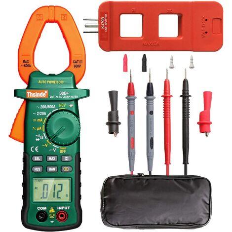 Pince ampèremétrique multimètre numérique, pince multimètre, multimètre sans contact, ampèremètre voltmètre