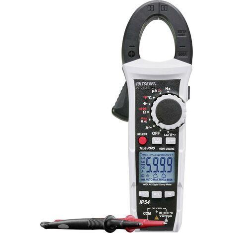 Pince ampèremétrique, Multimètre VOLTCRAFT VC-740 E VC-740 E numérique protégé contre les projections deau (IP54) CAT IV 600 V Affichage (nombre de points):