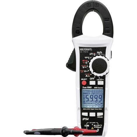 Pince ampèremétrique, Multimètre VOLTCRAFT VC-750 E VC-750 E numérique protégé contre les projections deau (IP54) CAT IV 600 V Affichage (nombre de points):