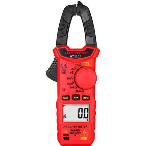 Pince Amperemetrique Numerique Ac, Gamme Automatique, Multimetre Numerique