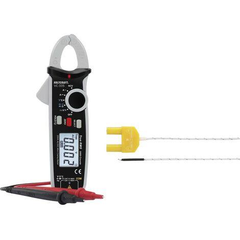 Pince ampèremétrique numérique VOLTCRAFT VC-335 Etalonnage: dusine (sans certificat) CAT II 600 V, CAT III 300 V Affichage (nombre de points): 2000