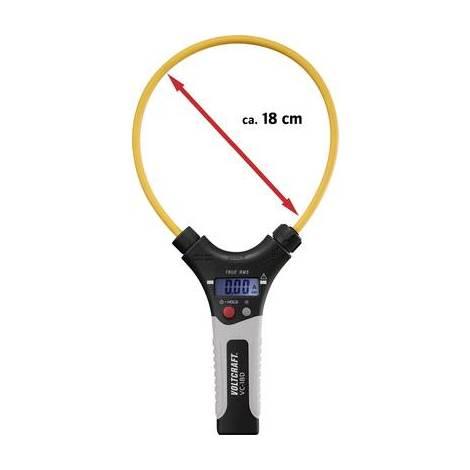 Pince ampèremétrique VOLTCRAFT VC-18D numérique Etalonné selon: dusine (sans certificat) CAT III 1000 V, CAT IV 600 V Affichage (nombre de points)