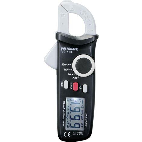 Pince ampèremétrique VOLTCRAFT VC-310 VC-310 numérique CAT II 600 V, CAT III 300 V Affichage (nombre de points): 2000 1 pc(s)