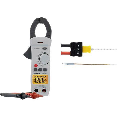 Pince ampèremétrique VOLTCRAFT VC-519 numérique Etalonnage: dusine (sans certificat) CAT III 600 V Affichage (nombre de points): 2000 1 pc(s)