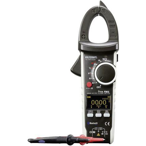 Pince ampèremétrique VOLTCRAFT VC-595OLED VC-595OLED (ISO) Etalonnage ISO numérique affichage OLED CAT III 600 V, CAT II 1000 V Affichage (nombre de points):