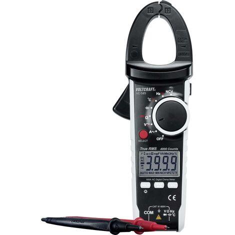 Pince ampèremétrique VOLTCRAFT VC585 numérique Etalonnage: dusine (sans certificat) CAT III 600 V Affichage (nombre de
