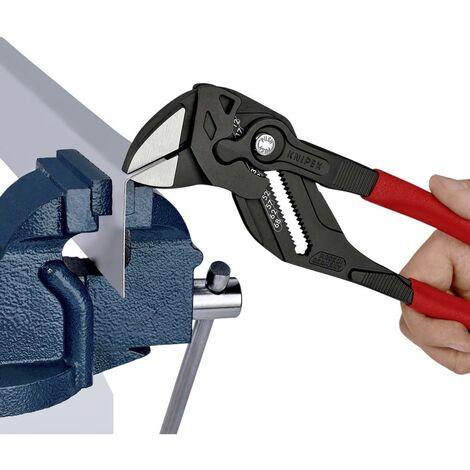 Pince clé DIN ISO 5743 L. 250 mm ouv. de clé 46 mm noir atramenté revêt. en plastique