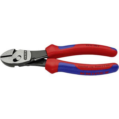 Pince coupante diagonale à forte démultiplication Knipex TwinForce 73 72 180 F pour l'atelier avec facette 180 mm 1 pc(s) Q860701
