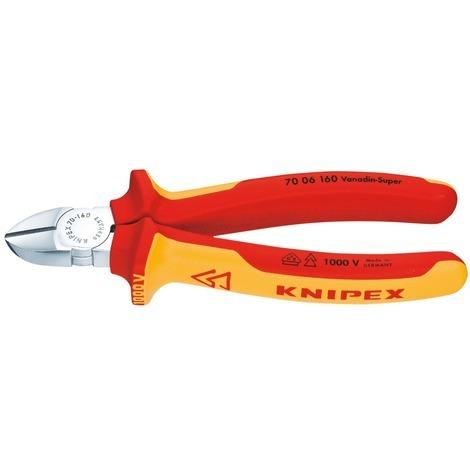 Pince coupante diagonale isolée Knipex - Longueur 160 mm
