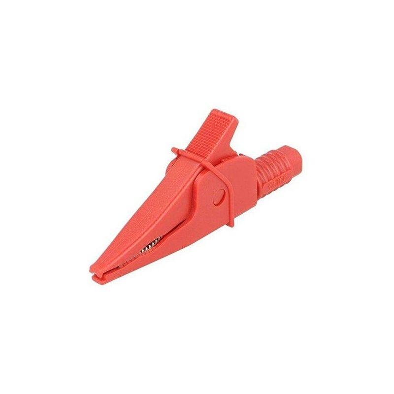 Pince crocodile isolée 20a 1kv Rouge Fcr79900r