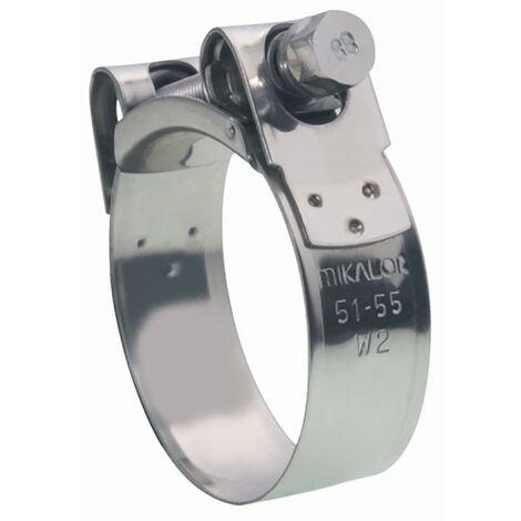 Pince de fixation 47-51Mm en acier inoxydable W2 Mikalor