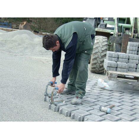 Pince de pose de pavés autobloquants Zone d'atteinte 150 - 240 mm Capacité de charge 10 kg poids 1 kg, électrogalvanisé