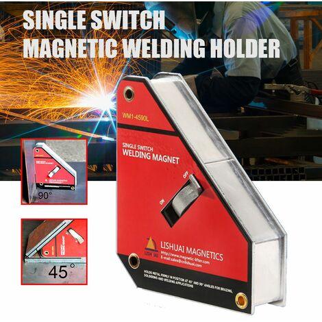 Pince électromagnétique de positionnement d'angle de dispositif de soudure magnétique de commutateur unique de 55Kg (45/90 degrés)