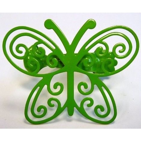 Pince métal papillon Anis