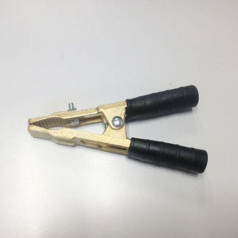 Pince pour cable de demarrage en laiton isolant NOIRE jusqu'à 500 Ampères OUTILAND