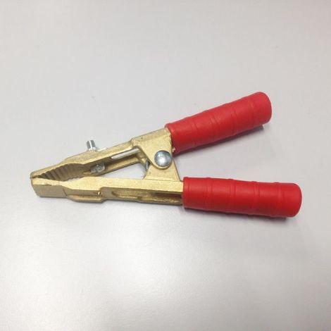 Pince pour cable de demarrage en laiton isolant ROUGE jusqu'à 500 Ampères OUTILAND