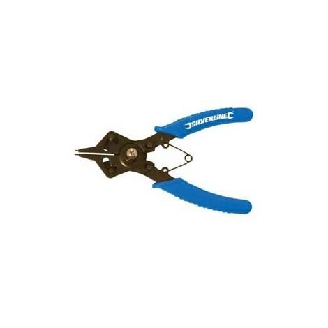 Silverline 633719 Pince r/éversible pour circlips 160 mm