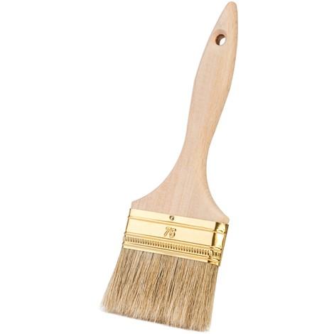 Pinceau plat standard - manche en bois