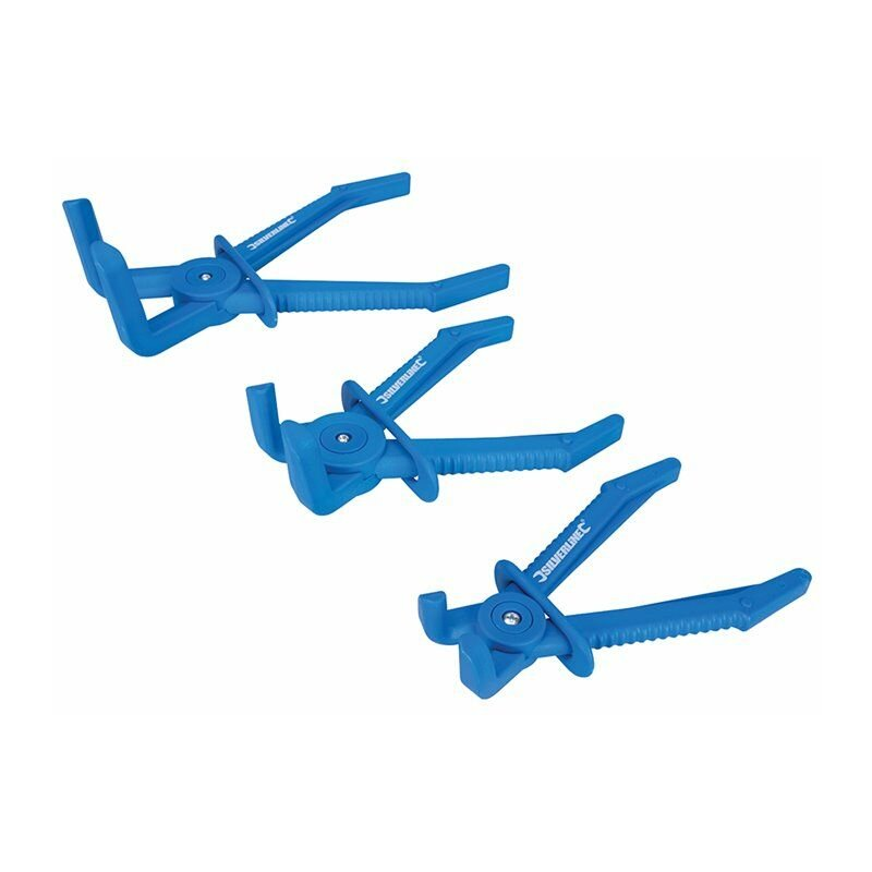 Silverline - Pinces à clamper coudées pour tuyaux flexibles, 3 pcs - 3 pcs