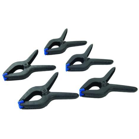 Pinces à ressort, 5 pcs Choix du modèle Longueur 200 mm / Mâchoire 100 mm