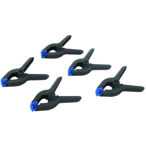 Pinces à ressort, 5 pcs Choix du modèle Longueur 65 mm / Mâchoire 40 mm