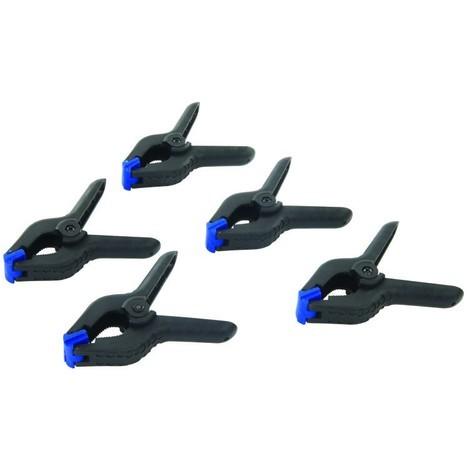 Pinces à ressort, 5 pcs Longueur 110 mm / Mâchoire 50 mm
