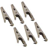 Pinces crocodiles 5 A HP Autozubehör 20205 (L x l) 45 mm x 5 mm 1 paquet(s)