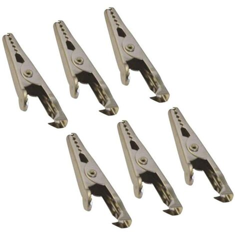 Pinces crocodiles 5 A HP Autozubehör 20205 (L x l) 45 mm x 5 mm 6 pc(s) C19284