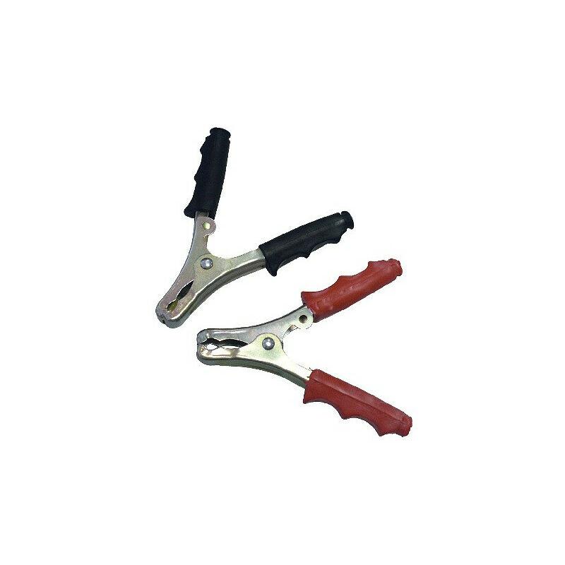Autobest - Pinces de charge 60A x2 isolées pour cable de chargeur rouge + noir