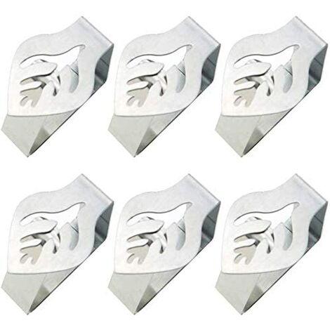 Pinces de Nappe en Acier Table Ensemble de 8 Pinces à Nappes Table Nappe Couverture Pinces pour Pique-Nique, Barbecue, Mariage, Fête