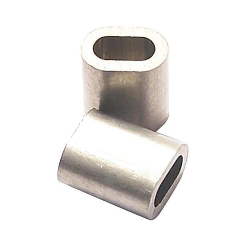 Pinces en aluminium Z5 pour câble métallique Ø 5,0mm (Par 100)