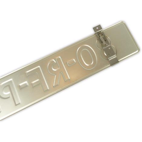 Pinces pour plaque immatriculation 2 pieces