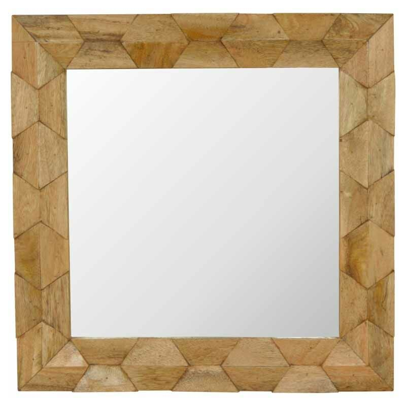 Image of Pineapple Carved Square Mirror Frame