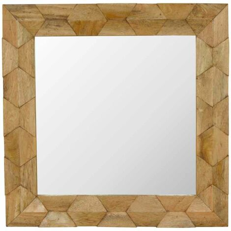 Pineapple Carved Square Mirror Frame