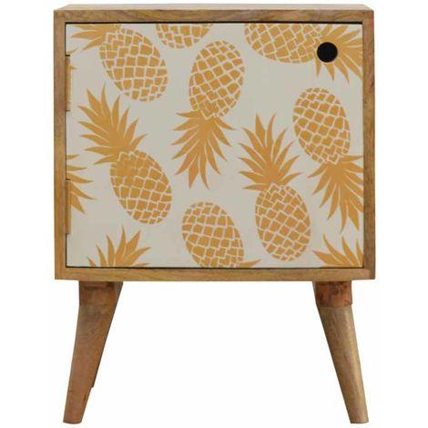 Pineapple Screen-printed Door Bedside
