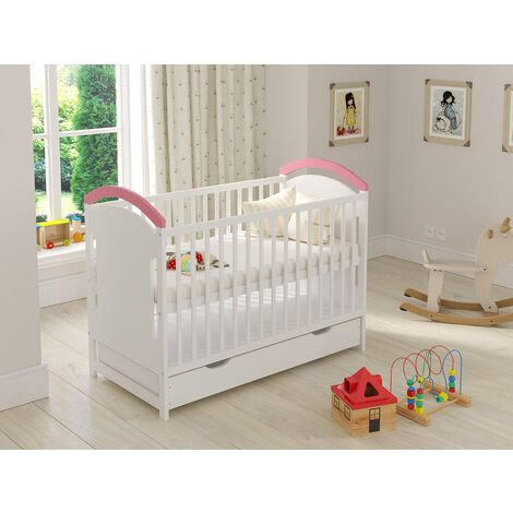 """main image of """"Amie Cot with Drawer and Safety Wooden Barrier Variations"""""""