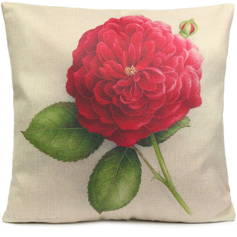 Pink Flower Cushion Cover Sofa Car Decoration Sofa Cover