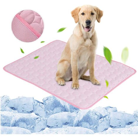 Pink Pet Dog Puppy Self Cooling Mat Cushion Summer Cool Bed