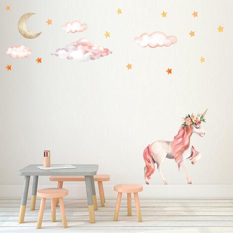 Pink Unicorn Princess Wall Stickers Art Decal Home Room Decor