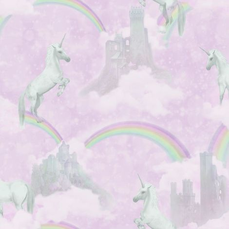 Pink Unicorn Wallpaper Girls Kids Glitter Girly Rainbow Fairytale Holden Decor